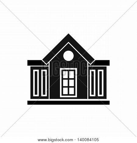 Mansion icon in simple style isolated on white background. Structure symbol