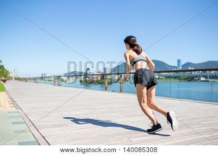 Woman run at outdoor