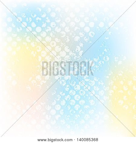 Colorful grunge halftone abstract design. Vector background illustration