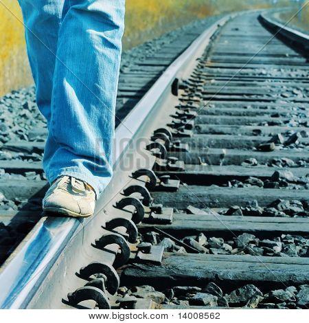 Walking on railroad