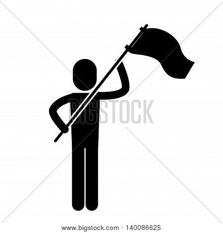 people protesting with signs and notices isolated icon design, vector illustration  graphic