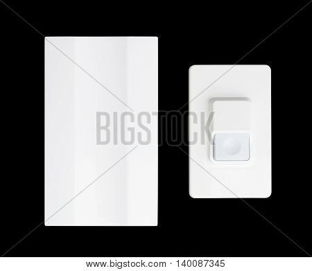 the doorbell isolated on a black background