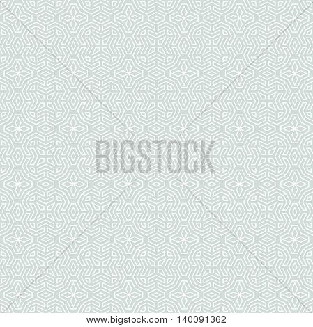 Seamless geometric pattern for your designs and backgrpounds. Modern vector ornament with repeating elements. Light blue and white pattern