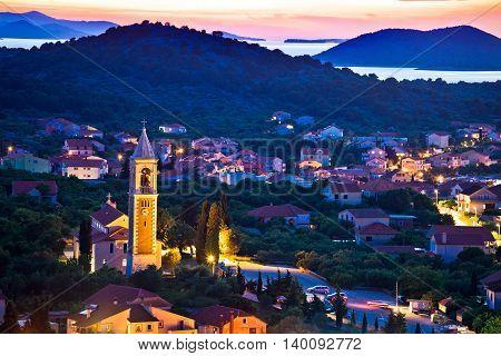 Town of Murter evening view Dalmatia Croatia