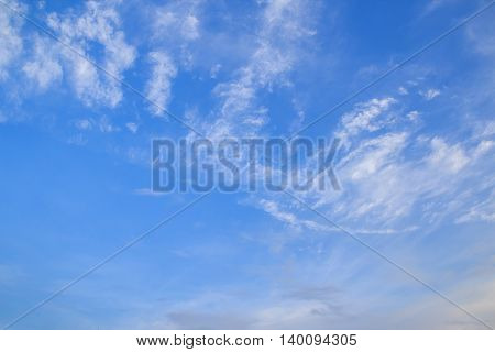 Blue sky and clouds. Sky and clouds background. Sky background