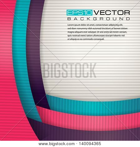 Abstract paper background with place for text. The illustration contains transparency and effects. EPS10