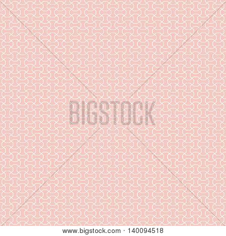 Seamless geometric pattern for your designs and backgrpounds. Modern vector ornament with repeating elements. Pink and white pattern