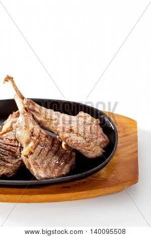 Asian-Style Pan-Fried Lamb Chops with Daikon