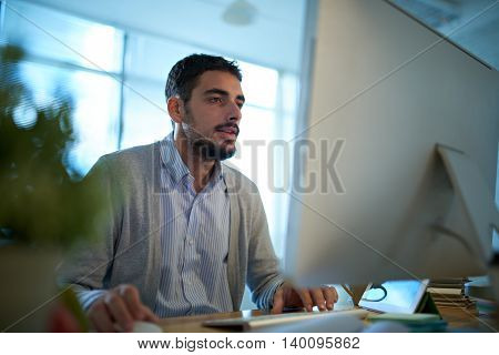 Portrait of software developer working in the office
