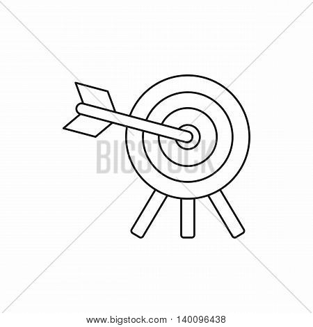 Target icon in outline style on a white background