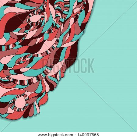 Vector illustration with abstract colorful background. Illustration 10 version