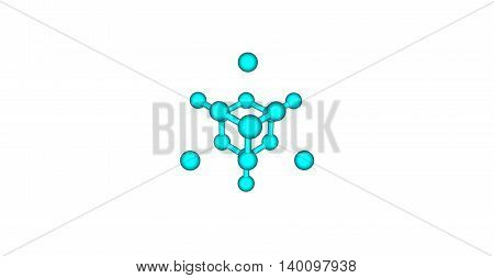The diamond cubic crystal structure is a repeating pattern of 8 atoms that certain materials may adopt as they solidify. 3d illustration