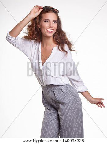 Beautiful Woman in summer clothes