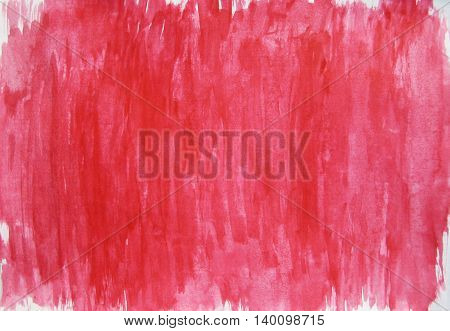 Painted light red pink white watercolor background