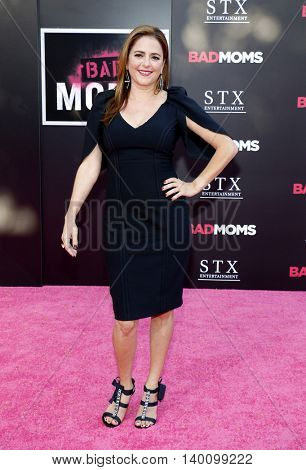 Annie Mumolo at the Los Angeles premiere of 'Bad Moms' held at the Mann Village Theater in Westwood, USA on July 26, 2016.