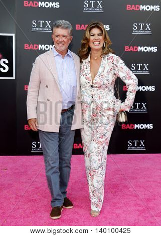 Alan Thicke and Tanya Callau at the Los Angeles premiere of 'Bad Moms' held at the Mann Village Theater in Westwood, USA on July 26, 2016.