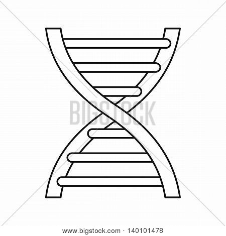 DNA icon in outline style on a white background