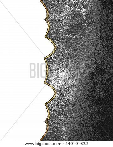 Grunge Metal Background With Sidecut. Template For Design. Copy Space For Ad Brochure Or Announcemen