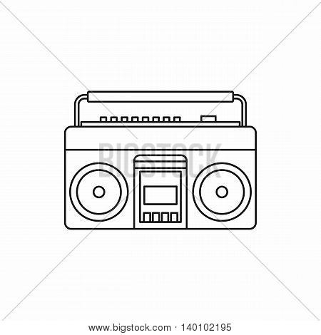 Classic boombox icon in outline style on a white background