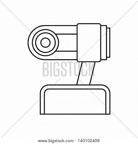 Webcam icon in outline style on a white background