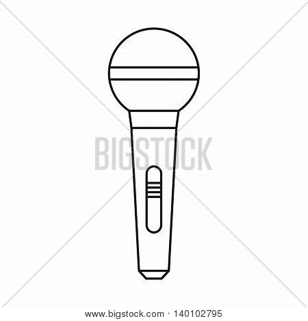 Wireless microphone icon in outline style on a white background