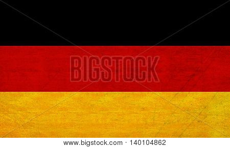 Illustration of the Flag of Germany with a grunge look added.