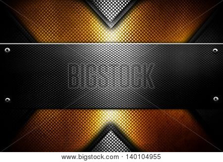 golden x metal design background