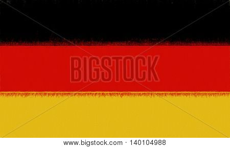 Illustration of the Flag of Germany with a smuged look to it