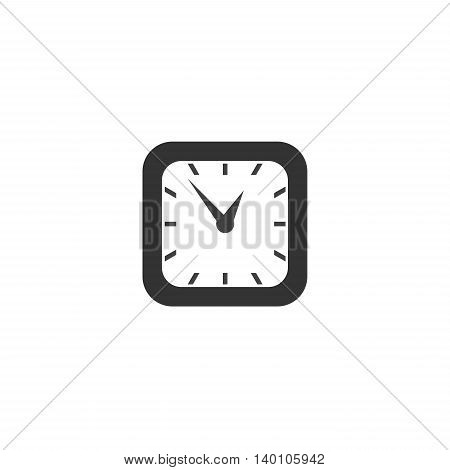 Square classic simple clock icon symbol sign eps10 vector