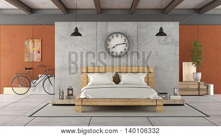 Bedroom In Industrial Style
