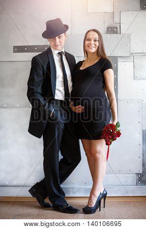 Stylish Elegant Couple Waiting A Baby