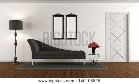 Black And White Retro Living Room