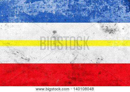Flag Of Mecklenburg-western Pomerania, Germany, With A Vintage A