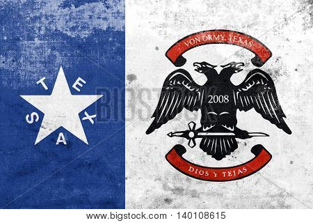 Flag Of Von Ormy, Texas, Usa, With A Vintage And Old Look