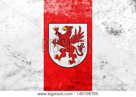 Flag Of West Pomeranian Voivodeship, Poland, With A Vintage And