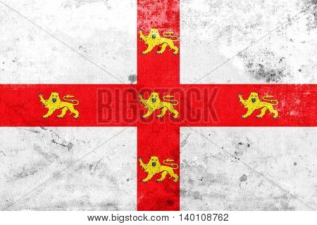 Flag Of York, England, Uk, With A Vintage And Old Look