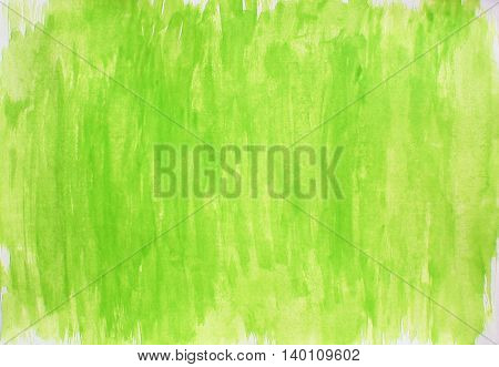 Painted light green yellow white watercolor background