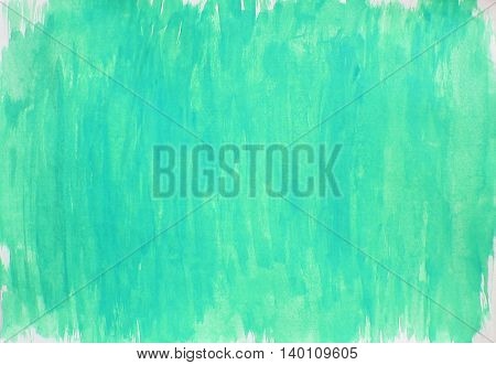 Painted light blue turquoise white watercolor background