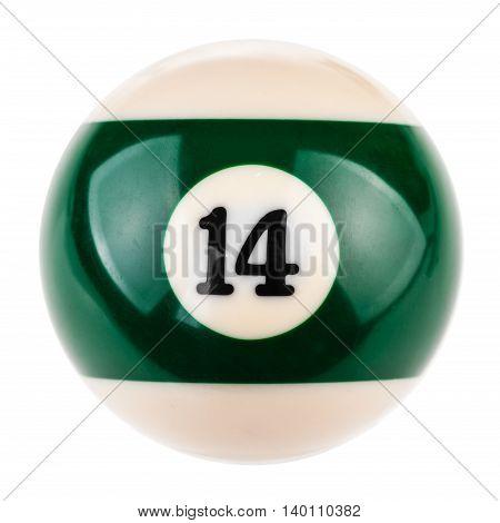 Pool Ball Fourteen