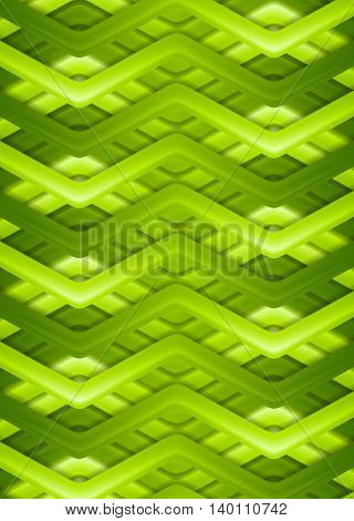 Bright green smooth stripes background. Vector design