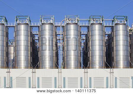 oil storage tank in heavy petrochemical industry estate
