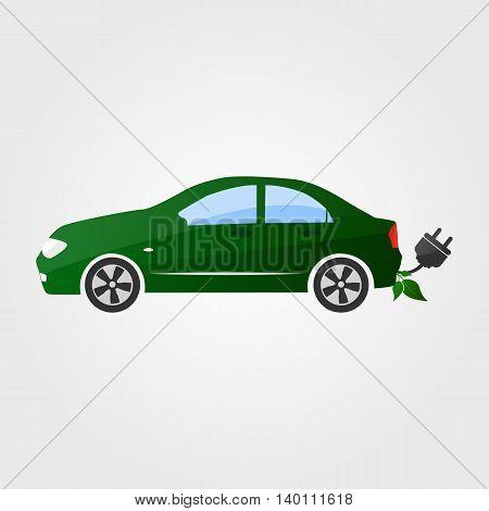 Eco car vector illustration. Eco auto concept