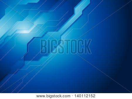 Dark blue hi-tech concept background. Vector graphic design