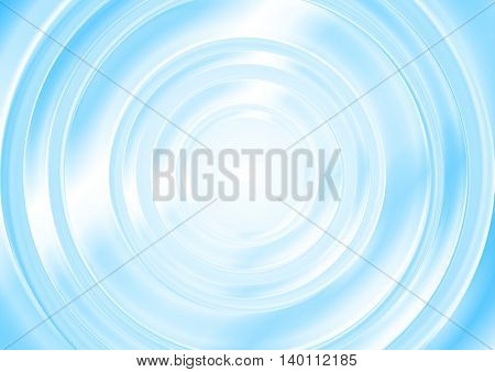 Bright blue abstract smooth circle background. Vector graphic template soft design