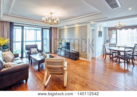 furniture and decoration in modern living room