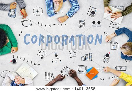 Marketing Business Corporation Progress Concept