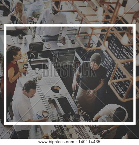 Food Beverage Industry Frame Graphic Concept