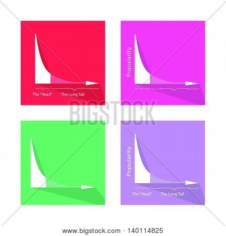 Charts and Graphs Illustration Collection of Fat Tailed and Long Tailed Distributions Chart Banners.