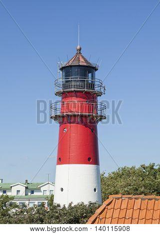Historic lighthouse at Buesum on the German North Sea coast