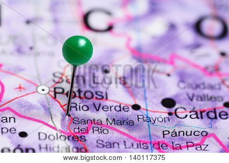 Santa Maria del Rio pinned on a map of Mexico